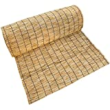 RGRE 60X100cm Persianas Enrollables De Bambú, Cortinas De Caña Natural, Estores De Bambú para Exteriores, Persianas De Caña Protección UV Transpirable