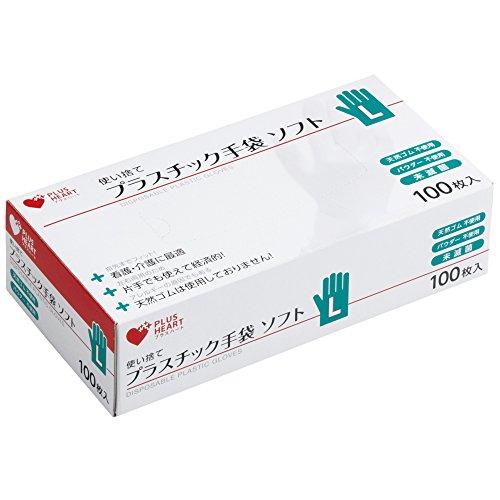 オオサキメディカル プラスチック手袋 ソフト L 100枚...