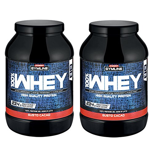 Enervit Gymline Muscle 100% Whey Protein Concentrate Cacao 2 X 900 gr