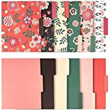 Decorative File Folders with Floral Designs, Letter Size (9.5 x 11.5 in, 12 Pack)