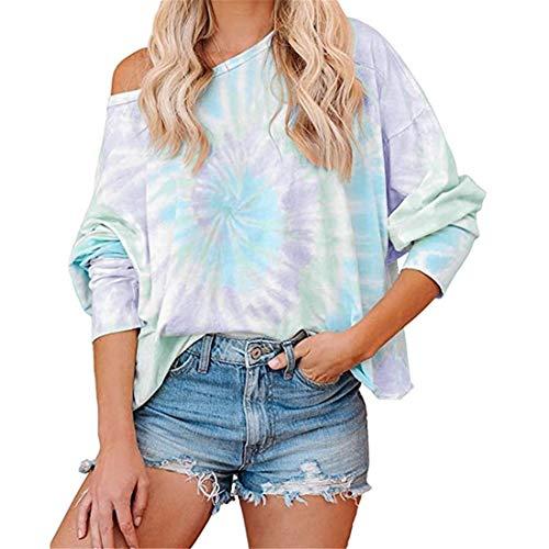 Zytyeu Women Tops Women T-Shirt Sexy Elegant Sweet Off Shoulder Fashion Autumn Long Sleeve Chic Casual Loose Comfort Holiday Classic Women Blouse Gray. XL