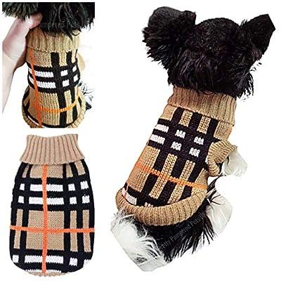 XXXS Chihuahua Clothes Clothing Teacup Puppy Dog Coat Dog Jumper Tartan Stripe Small Puppy Dog Coat UK Seller XXS XS Small Tiny Breeds (XXXS, Tartan Stripes)