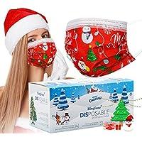 50-Pack Bingfone Christmas Women's Disposable Face Mask