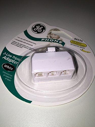 GE 2-Line Triplex Adapter (86534); White