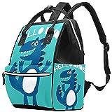 WJJSXKA Mochilas Bolsa de pañales Laptop Notebook Mochila de viaje Senderismo Daypack para Mujeres Hombres - Lindo dinosaurio dibujado como un vector de impresión