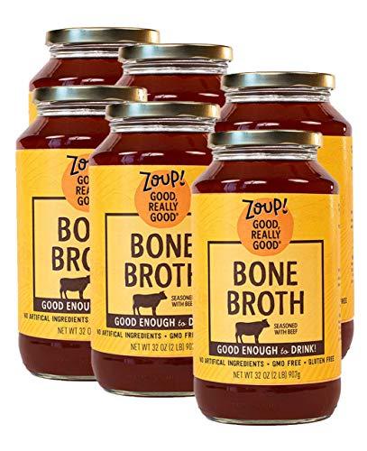 Beef Bone Broth by Zoup! - Gluten Free, Non GMO, Fat Free Beef...