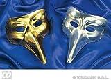Venice Mask Plastic Gold/silver Venice Masks Eyemasks & Disguises For