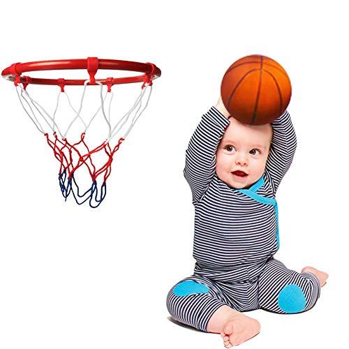 knowledgi Canasta de baloncesto para exterior, portería colgante en interiores y exteriores, con canasta de baloncesto montada en la pared para todas las condiciones climáticas, 10 pulgadas