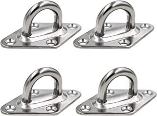 Elitee Diamond Pad Eye Plate 316 Stainless Steel 8mm Eyebolt Anchor Heavy Duty 4 Pack