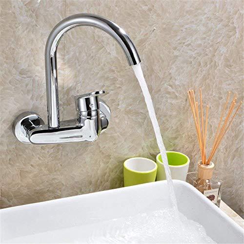 Willsego Küche Bad Becken waschbecken mischbatterie Wasserhahn massivem Messing heißes und kaltes Wasser spülbecken hahn heiß und kalt (Farbe : -, Größe : -)