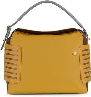 Baggit Spring-Summer 2020 Faux Leather Women's Duffel Handbag (Orange) (L Lockup)