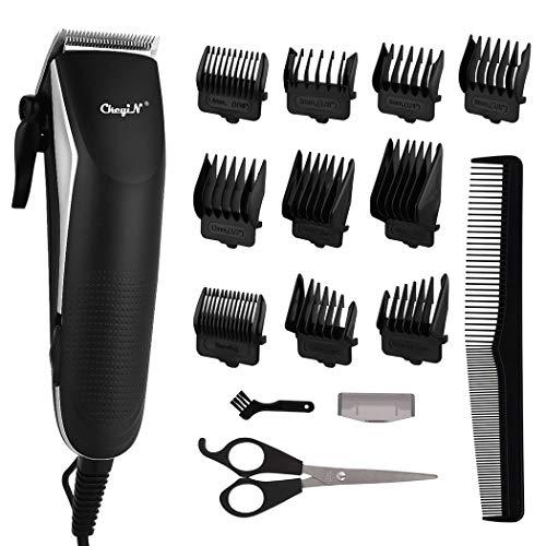 Tondeuse à cheveux filaire en forme de R Kit de soin électrique pratique avec 10 peignes Limit, pour adultes et enfants