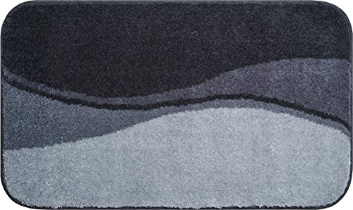 Linea Due badmat 100% polyacryl, ultra zacht, antislip, FLASH, badmat 60x100 cm, antraciet