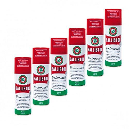 Preisvergleich Produktbild BALLISTOL Spray,  6 Dosen a 200 ml Waffenöl Kriechöl Pflegeöl 21700