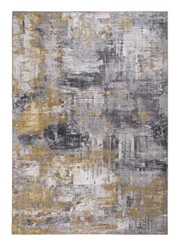 Luxor Living Designteppich Prima, Vintageteppich, hochwertig gewebt, grau - gelb, 160 x 230 cm