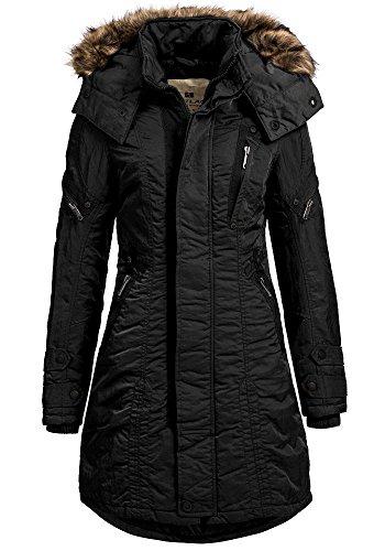 JET LAG Damenparka SW61A schwarz 42   (Hersteller Größe: XL)