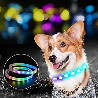 Smavlfs Pet luminous collar, USB charging collar, pet supplies luminous leisure dog leash