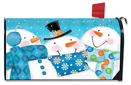 Briarwood Lane Snow Buds Winter Magnetic Mailbox Cover Snowman Scarfs Standard