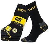 3er Pack CATERPILLAR Cat-Work Socken Herren Arbeitssocken Strümpfe Mehrfarbig 115A, Farbe:Black;Größenauswahl:41 - 45