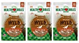 Nylabone 3 Pack of Healthy Edibles Antler Chew Treats, 10 Count Each, with Real Venison