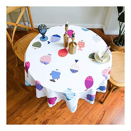 Tafelkleed voor huishouden, rond, oliedrukcontrole, tafelkleed voor buiten, mat, tafeldecoratie, mantelstof waterdicht, gemakkelijk te reinigen, waterdicht en vuilafstotend 80cm 2