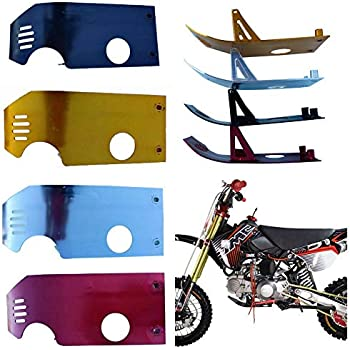 ZXTDR Skid Plate Guard Protector for 70cc 110cc 125cc Pit Dirt Bike XR50 CRF50 XR 50 CRF SP07 Red