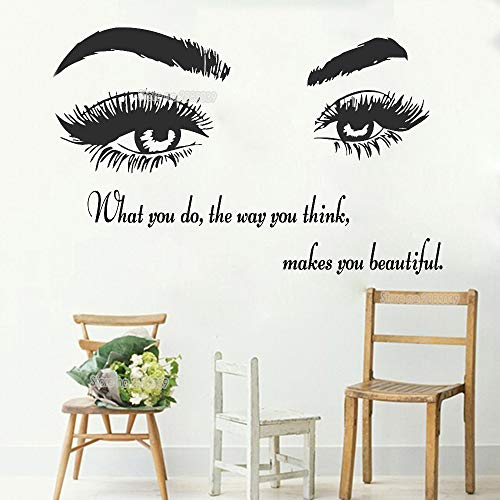 zzlfn3lv Augenbrauen Schönheitssalon Make-up Wandaufkleber Wohnzimmer Wohnkultur Wandbild Kunst...