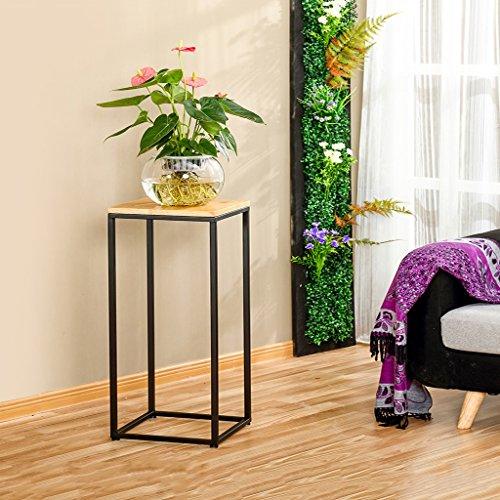 QFF Américain Bois massif Radis vert Multifonctions Rétro Style de sol Balcon Salle de séjour Chambre Porte-fleurs Porte-pots Étagère ( taille : 30*30*80cm )