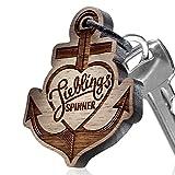 """Premium schenkYOU Schlüsselanhänger aus Nussbaumholz - personalisierte Geschenkidee für den Partner- Gravur """"Lieblingsspinner"""""""