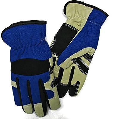 Red Steer 5634 Lined Pigskin Work & General Purpose Gloves, Blue [Price Is Per Pair]