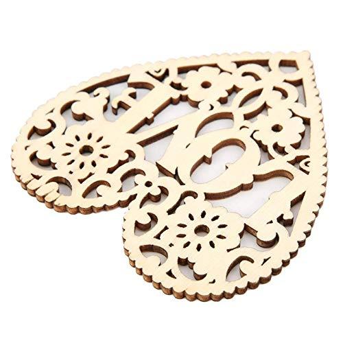 Socobeta - Ciondolo in legno intagliato a forma di cuore da appendere (80 x 80 mmlove pesca cuore, blu)