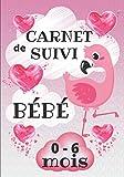 Carnet de Suivi de Bébé 0-6 Mois: Journal de bord journalier à remplir pour les mamans / Album photos pour se souvenir / Cahier de santé et de bien-être du nourrisson / Flamant rose