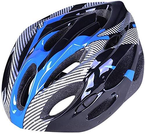 ewrwrwr Casco de Bicicleta con Seguridad Recargable Ligera Casco de Ciclo Protegido Ajustable para Hombres Mujeres Casco de Bicicleta súper Ligero Casco de Bicicleta Adulto-Azul_Un tamaño