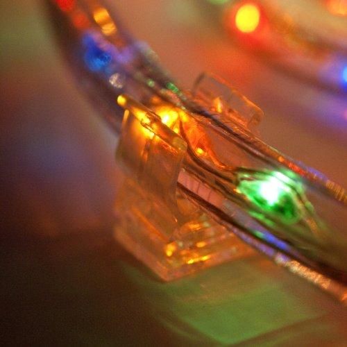 Lights4fun 50er Set Lichtschlauch Befestigungsclips Montagehalterung 13mm