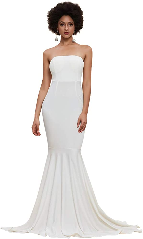 Miss ord Women's Sleeveless Bra Mermaid Party Dress