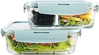 LINGLING Verre Boîte à lunch Container Ensembles alimentaire Rangement et organisation Services Verre Food Kitchen Contian...