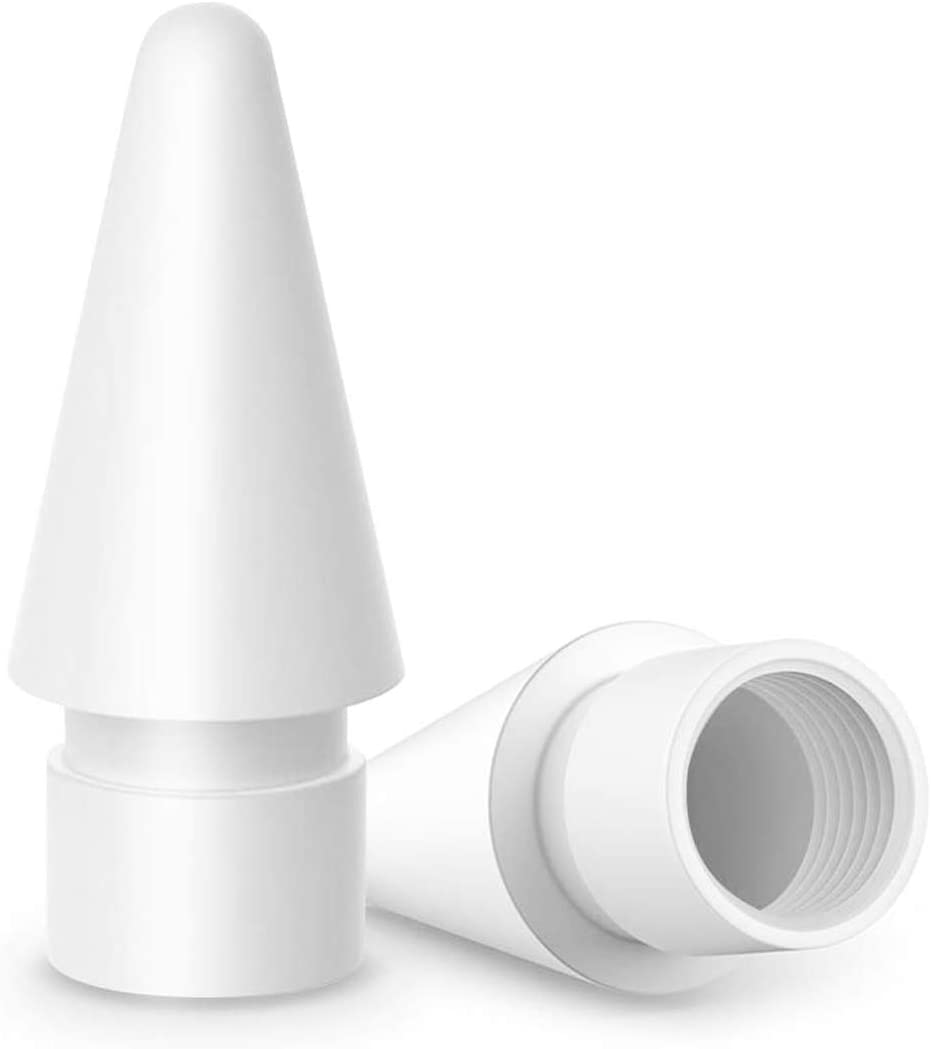 Replacement Pencil Tips for Apple iPencil 1st/2nd Generation, Pen Nibs (White) (2 Pack)