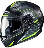 HJC Helmets CS-15 Cascos, Hombre, Trion Black/Green, M
