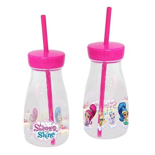 Shimmer And Shine 0 Botella de plástico con Pajita, 0 (CYP Imports B-