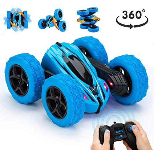 RC Stunt Car for Kids, 360°Flips Double Sided Rotating 4WD 2.4Ghz Remote Control Car - Christmas Gift for 2-12 Years Old Kids