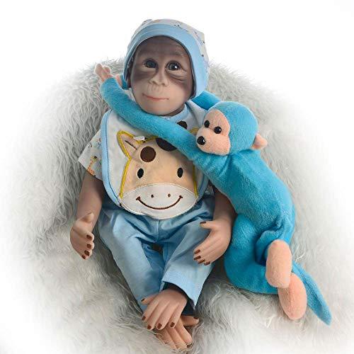 SONGXM Reborn Bebe Muñeca de Mono de chimpancé bebé Realista - Vinilo de Calidad de coleccionista Hecho a Mano de 48 cm Tan Lindo muñeco de Mono