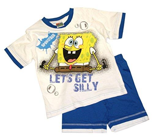 SpongeBob Shorty Set/Pyjama - Weiss-blau