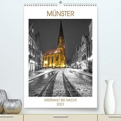 Münster - erstrahlt bei Nacht (Premium, hochwertiger DIN A2 Wandkalender 2021, Kunstdruck in Hochglanz): Münster zeigt sich bei Nacht von der ... (Monatskalender, 14 Seiten ) (CALVENDO Orte)