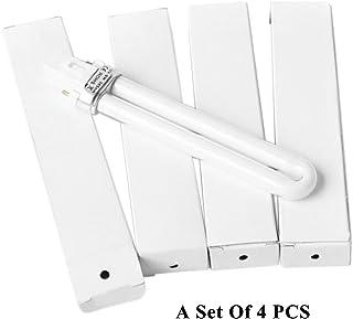 zroven Conjunto de 4 PCS 9W UV Lámpara de luz para el arte del clavo Lámpara de curado reemplazo de la lámpara en forma de U Bombilla de tubo de uñas Suministros de arte