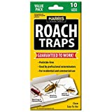 Harris Roach Glue Traps, Non Toxic (10-Pack)