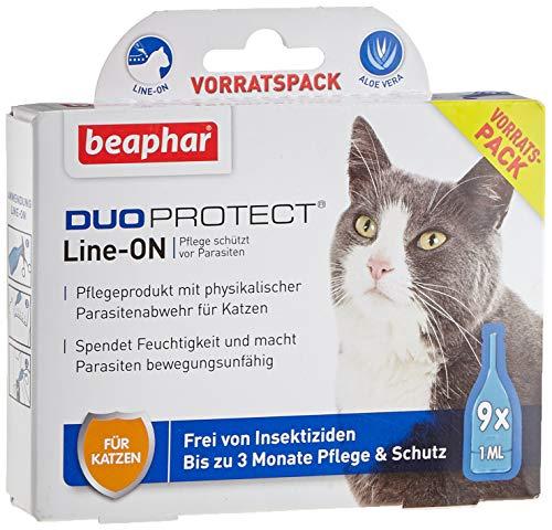 beaphar 17063 DuoProtect Katze (Vorratspack) | Pflege & Schutz für Katzen | Physikalische Parasitenabwehr | Mit Dimeticon & Aleo Vera