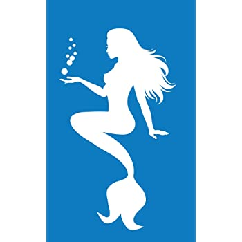 Mermaid  water girl fantasy Vinyl Decal Sticker laptop phone game