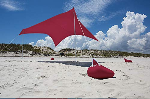 Otentik Beach Sunshade - with Sandbag Anchors - The Original Sunshade Since 2011