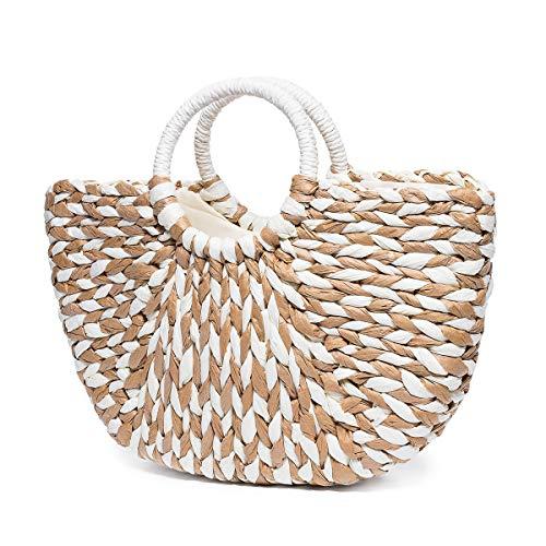 "Summer Beach Bag, JOSEKO Women Paper Handbag Top Handle Big Capacity Travel Tote Purse (15.75"" x 4.33"" x 12.99""(L x W x H))"