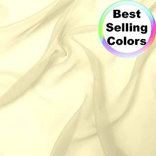 Best cream chiffon fabric Reviews